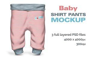Baby Shirt Pants Mockup