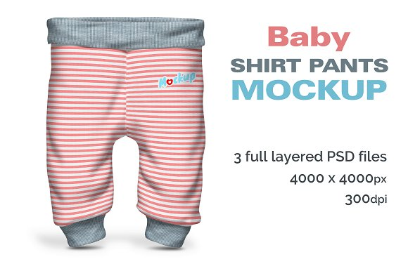Download Baby Shirt Pants Mockup