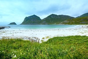 Haukland beach (Norway, Lofoten).