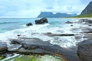 Haukland beach (Norway, Lofoten).