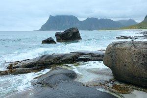 Haukland beach (Norway, Lofoten)
