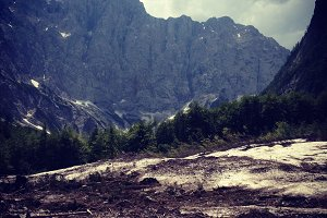 Julian Alps from Valey of Vrata