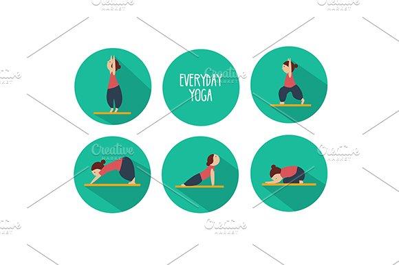Yoga poses. eps+jpg