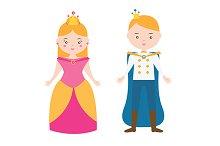 Boy and girl. Princess and prince