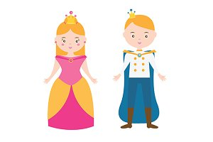 Boy and girl. Princess and prince