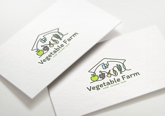 Animated Logo Vegetable Farm Logo Templates Creative Market