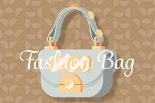 Light grey fashion woman bag