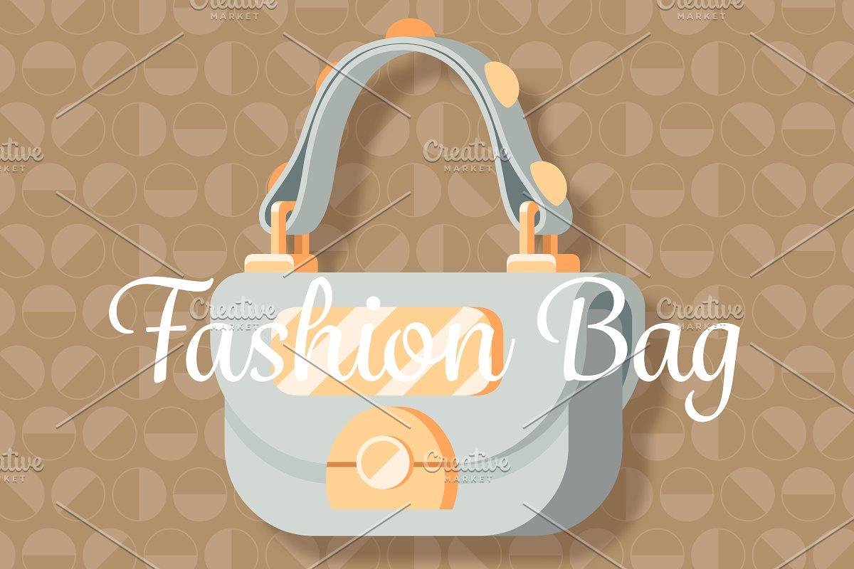 c8e39d88cb Light grey fashion woman bag ~ Graphic Objects ~ Creative Market