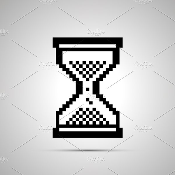 Pixelated Cursor In Hourglass Shape