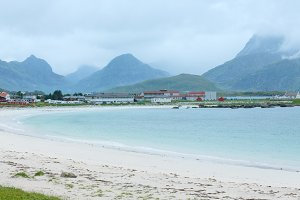 Ramberg beach (Norway, Lofoten).