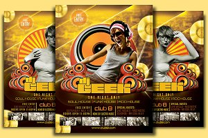 DJ Geek Flyer Template