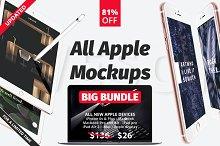 All apple mockups Big Bundle 81% OFF
