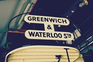 Vintage London Bus Destinations
