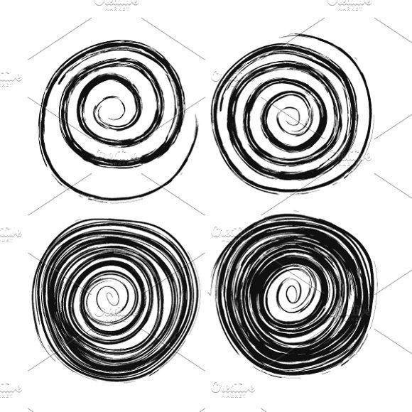 Hand drawn swirls on white