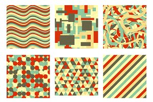 Set of 9 abstract seamless patterns