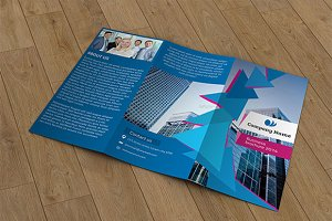 Trifold business brochure-V38