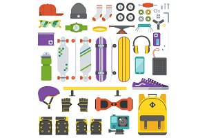 Skateboarding Equipment Set