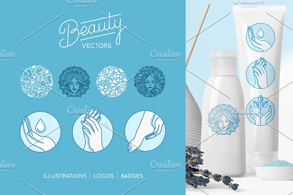 Beauty set - vector logos a-Graphicriver中文最全的素材分享平台