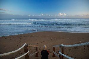 Surfing in north europe in autumn