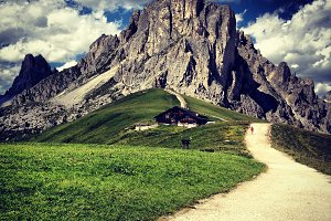 Beautiful Mountains in Dolomites