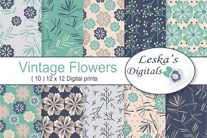 Floral Digital Paper Pattern Design