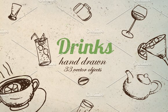 Vector Drink Pack in Objects