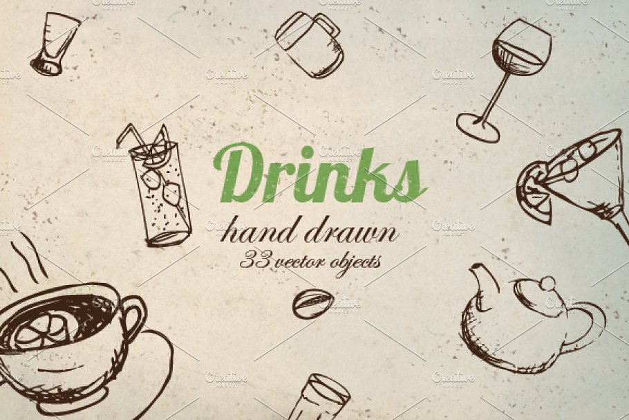 Vector Drink Pack in Objects - product preview 8