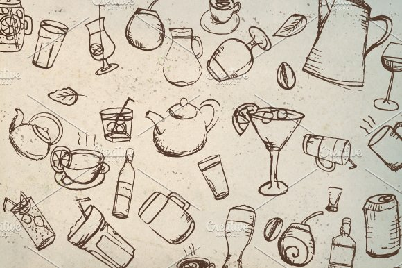Vector Drink Pack in Objects - product preview 1