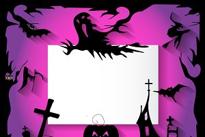 Happy Halloween background pink