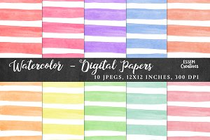 BUNDLE Watercolour Digital Papers