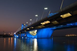 Sheikh Zayed Bridge at night