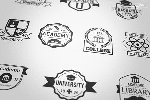 Academic College School Badges Logos