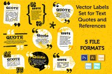 Quote Labels Vector set 4