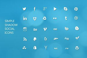 Social Icons - Shadow