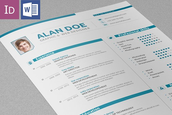 Professional Resume & Cover Letter ~ Resume Templates ~ Creative Market