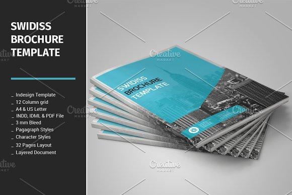 Swidiss Brochure Template Brochure Templates Creative Market - Templates for brochures