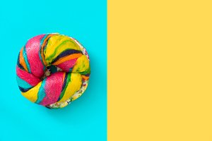 Colorful bagel
