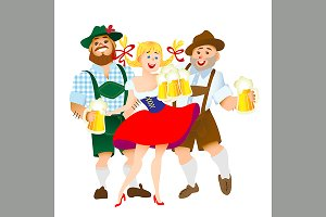 bavarian men and woman