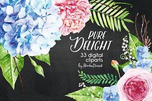 Pure Delight - Watercolor Cliparts