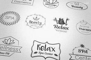 Spa Beauty Center Badges Logos