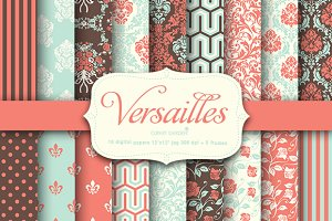 18 Versailles style papers + frames