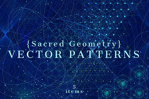 {Sacred Geometry} Vector PATTERNS