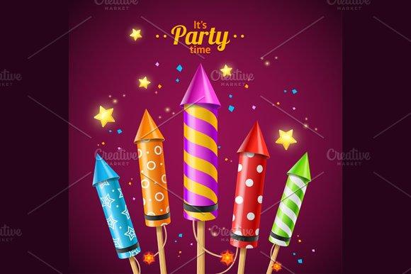 Party Rocket Fireworks Flyer