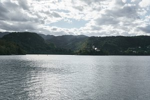 Bled lake in summer
