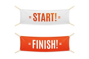 Start and Finish Banner. Vector