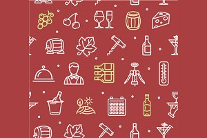 Wine Making Drink Background Pattern