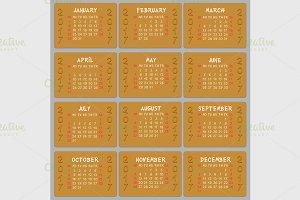 Vector calendar 2017
