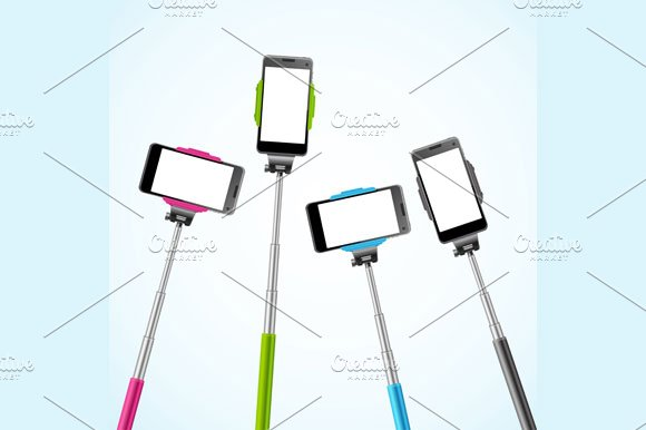 Monopods Template. Vector - Illustrations