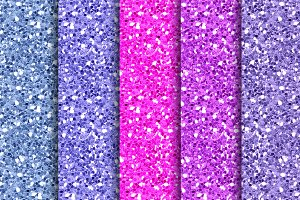 Girly Glitter Papers