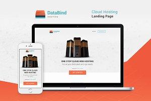 Data Bind - Hosting Landing Page PSD